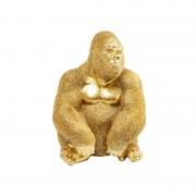 figura decorativa Gorilla XL dorada
