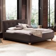 Braun Doppelbett in Braun gepolstert