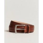 Loake 1880 Henry Grained Leather Belt 3,3 cm Mahogany
