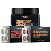 PowGen Shredder Pack - 30 Tage Fettverbrennung zur Maximierung des Workouts - Protein-Shake, 2x Fatburner PowGen