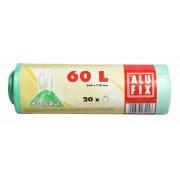 Szemeteszsák, zárószalagos, 60l, 20 db, ALUFIX (KHT181)