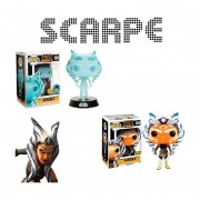 Funko 2 Pop Set Ahsoka Tano Star Wars Comikaze Hot Topic Glow