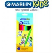 Marlin Kids Colour Pencils Long -Pack of 12,