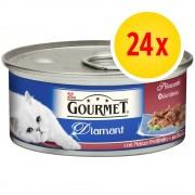 Gourmet Fai scorta! Gourmet Diamant Sfilaccetti di Carne 24 x 85 g - Tacchino