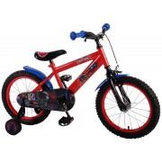 """Bicicleta pentru baieti ajustabila din otel cu roti ajutatoare 16"""" EandL CYCLES Spiderman"""