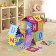 HOMCOM ® Alfombra Puzle para Niños 36pcs 3.34㎡ Números 0-9 y 26 Letras