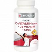 Damona RETARD C-vitamin 1000 mg +400 IU D3-vitamin+10 mg cink tabletta, 100 db