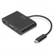 Digitus Adaptador USB 3.0 Type-C para VGA/USB 3.0/USB C