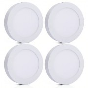 Bene LED 12w Round Surface Panel Ceiling Light Color of LED White (Pack of 4 Pcs)