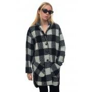 Woolrich Cappotto ampio W'S GENTRY COAT Bianco/nero Poliestere Donna