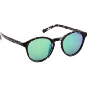 Polaroid Round Sunglasses(Blue, Green)