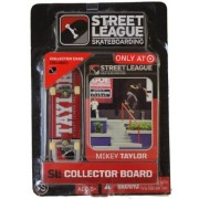 Street League Skateboarding Fingerboard Sean Malto White Letters Over Red Background With White Tail