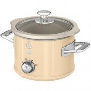 Oala electrica Slow cooker Swan SF17011CN, Retro, Capacitate 1.5 Litri, Vas ceramic