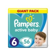 Scutece Pampers Active Baby Giant Pack, marime 6, 56 buc