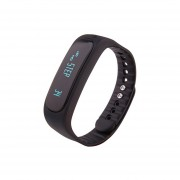 Reloj Smartwatch, E02 Impermeable Moda Bluetooth Actividad Inteligente Seguidor Pulsera (Negro)