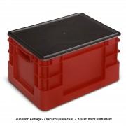 Protaurus Auflagedeckel in schwarz für Euro-Transportbehälter 400x600mm
