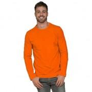 Lemon & Soda Oranje heren shirt lange mouwen