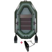 Čln Kolibri K-220 T zelený, lamelová podlaha + držiak