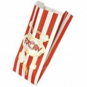 Pungi din Hartie Imprimate Rosu pentru Popcorn, Dimensiune 12x8x27 cm, 1000 Buc/Bax