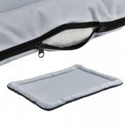 [en.casa]® Pelíšek - pro kočičky a pejsky - se zipem - oxford látka / PP-bavlna - 120 x 85 cm [XXL] - šedý