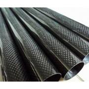 Teava rotunda carbon D16 x d14 x 1000 mm roll-wrapped