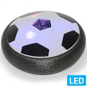 Air Powered Electric Soccer Football Disc Ball Toy WithLED Lights For Indoors & Outdoors Soft Padded Rubber Foam Protector Use As Hover Hockey Disc