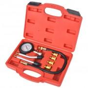 vidaXL 8 Piece Petrol Engine Compression Tester Kit