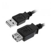 CABLE USB 20 AM AH 3M NEGRO