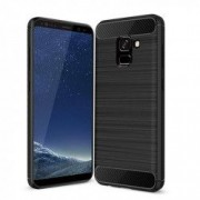 Carcasa TECH-PROTECT TPUCARBON Samsung Galaxy A8 2018 Black