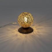 Paul Neuhaus Rural table lamp rust brown 10 cm - Crete