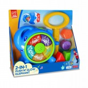 Jucarie de impins 2 in 1 Elefantel Little Learner, 12 luni+