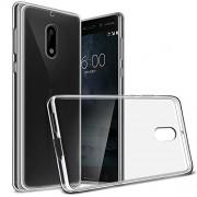 NPRC Soft Silicone Transparent Back Case Cover for Nokia 6