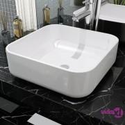 vidaXL Umivaonik Pravokutni Keramički Bijeli 38x38x13,5 cm