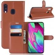 Samsung Galaxy A40 Hoesje - Book Case - Bruin