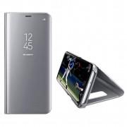 Husa Telefon Huawei P Smart Z / Y9 Prime (2019) Flip Mirror Stand Clear View Argintiu