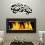 Sticker decorativ de perete Sticky, 260CKY5027, Negru