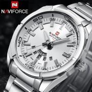NAVIFORCE Top Luxury Brand Men Sports Watches Men's Quartz Clock Man Stainless Steel Army Military Wrist Watch Relogio Masculino