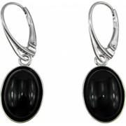 Cercei argint ovali cu onix 14x10 MM GlamBazaar 3.3 x 1.2 cm cu Onix Negru tip cercei de argint 925 cu pietre naturale