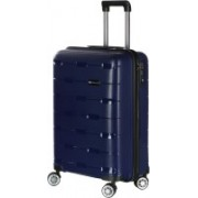 Nasher Miles Santorini PP Hard-Sided Cabin Luggage Bag Navy Blue 21.7 Inch | 55CM Trolley/Travel/Tourist Cabin Luggage - 20 inch(Multicolor)