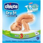 Chicco - Pack De 21 Pañales Talla 3 4-9 Kg Color Blanco