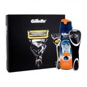 Gillette Fusion Proshield sada holicí strojek s jednou hlavicí 1 ks + gel na holení Fusion Proglide Sensitive Active Sport 170 ml + pouzdo na holicí strojek 1 ks pro muže