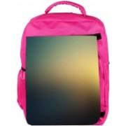 Snoogg Eco Friendly Canvas Sunset Color Design Designer Backpack Rucksack School Travel Unisex Casual Canvas Bag Bookbag Satchel 5 L Backpack(Pink)