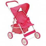 Carucior pentru papusi Pink Spotted Baby Mix