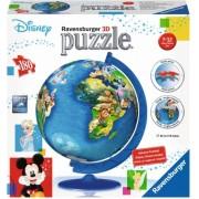 Puzzle 3D Globul Disney, 180 Piese Ravensburger