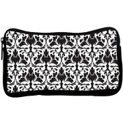 Snoogg Big Floral Pattern Poly Canvas Student Pen Pencil Case Coin Purse Utility Pouch Cosmetic Makeup Bag