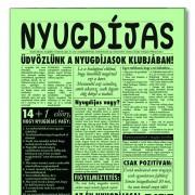 Nyugdíjas - Tréfás Szülinapi újság