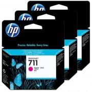 HP 711 (CZ135A) gyári 3db-os tintapatron csomag - magenta