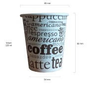 Cappuccino TO GO pahare 8oz 220 ml set 50 buc