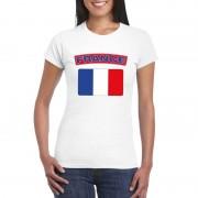 Bellatio Decorations Franse vlag shirt wit dames