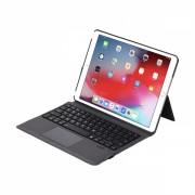 Husa carcasa stand cu tastatura si touchpad pentru iPad 9.7 2017/2018, Air 2, Pro 9.7, din piele ecologica cu suport touchpen, negru